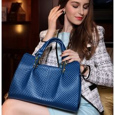Fashion Luxe Royal Elegant Glossy Leather Tote for Women Free Shipping