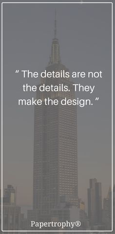 The design is in the details. #QOTD