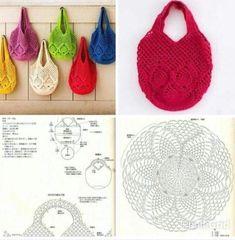 Marvelous Crochet A Shell Stitch Purse Bag Ideas. Wonderful Crochet A Shell Stitch Purse Bag Ideas. Free Crochet Bag, Crochet Market Bag, Crochet Shell Stitch, Love Crochet, Crochet Motif, Crochet Designs, Crochet Stitches, Crochet Patterns, Crochet Bags