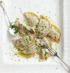 Südtiroler Schlutzkrapfen mit Spinat