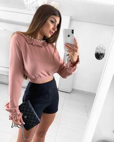 Shorts Outfits Women, Short Outfits, Outfits For Teens, Stylish Outfits, Summer Outfits, Cute Outfits, Vogue Fashion, Teen Fashion, Runway Fashion