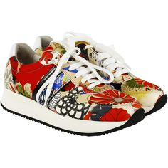 Carven Sneakers (3.966.685 VND) ❤ liked on Polyvore featuring shoes, sneakers, multicolore, multi color shoes, colorful sneakers, carven shoes, multi colored sneakers and multicolor shoes
