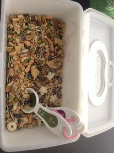 DIY hamster food mix. Great for natural balanced and controlled diet.
