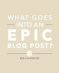 Find out how to create a blog post that gets shares and works to grow your business everyday.