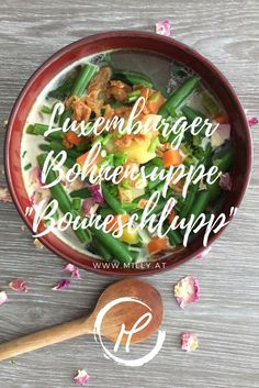 """This lexembourgish bean soup """"Bouneschlupp"""" is fantastic. It is so quick and allows you to taste all the flevours of summer in one recipe:) Fusion Food, Easy Healthy Recipes, Vegan Recipes, Easy Meals, Food Chemistry, Soup Starter, Clean Eating, Fun Cooking, Kitchens"""