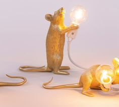So sweet the Seletti Mouse lamp in gold! Table Lamp, Sweet, Gold, Home Decor, Home Decor Accessories, Homes, Candy, Table Lamps, Decoration Home