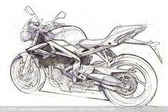 Sketch Triumph Street Triple 800