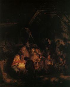 Rembrandt Harmensz. van Rijn: De aanbidding der herders (1646 [2]) Lukas 2