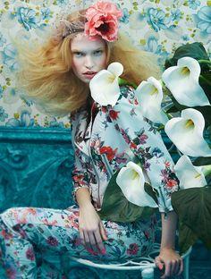 Tutte In Fiore: Luisa Bianchin By Sandrine Dulermo And Michael Labica For Glamour Italia April 2015