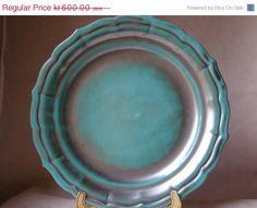 Anna-Lisa Thomson for St. Eriks of Sweden, a serving platter in her copper oxide green glaze