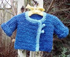 Super cute crochet baby sweater pattern. I've made it a couple of times. It comes out beautifully
