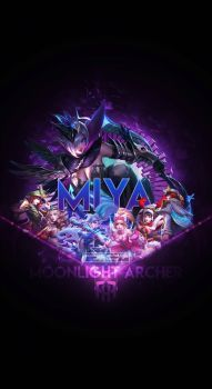 Wallpaper Phone Special Miya Moonlight Archer by FachriFHR ouh my favourite hero💋😍 Mobile Legend Wallpaper, Hero Wallpaper, Galaxy Wallpaper, Wallpaper Keren, Bruno Mobile Legends, Miya Mobile Legends, Mobiles, Qhd Wallpaper, Alucard Mobile Legends