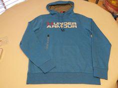 Under Armour ColdGear loose S 1288671 blue 787 pullover jacket hoody hoodie Mens #UnderArmour #hoodie