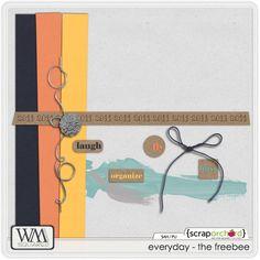 Everyday tiny kit freebie from WM Squared #scrapbook #digiscrap #scrapbooking #digifree #scrap
