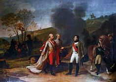 """""""Meeting Between Napoleon I and Francis I After the Battle of Austerlitz"""" [Credit: Imagno/Hulton Archive/Getty Images]"""