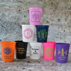 Personalized Stadium Cups, one for every occasion!