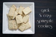 Have you used a springerle roller? These simple shortbread-like cookies are delicious and fun!