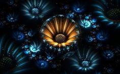 Télécharger fonds d'écran les fractales, la 3d, les fleurs, l'art, les rayons