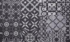 Sol stratifié QUADRAIC, motif carreau de ciment, dalle 31 x 64,4 cm - Sol Stratifié - Collection Sol - Saint Maclou