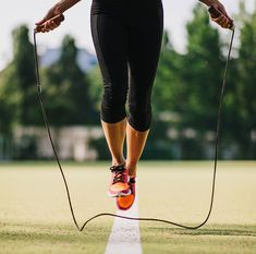 Grab a jump rope to try this seven-minute cardio routine.