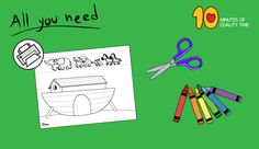 noah's ark craft for toddlers Bible Activities For Kids, Bible Crafts For Kids, Sunday School Activities, Sunday School Crafts, Toddler Crafts, Noahs Ark Craft, Airplane Banner, Noah Ark, Printable Crafts