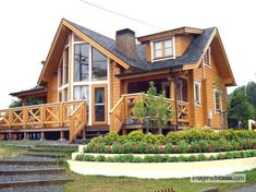 A superb 3 bedroom residence or holiday retreat Cabin Plans, House Plans, Beautiful Buildings, Beautiful Homes, Alpine House, Log Home Designs, Log Cabin Homes, Construction Design, House Inside