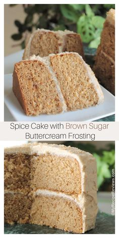 Like a mini-carrot cake without all the add-ins - just the cake with a delicious Brown Sugar Buttercream Frosting. My Recipes, Cake Recipes, Cooking Recipes, Mini Carrot Cake, Cupcake Cakes, Cupcakes, Spice Cake, Food Reviews, Cake Plates