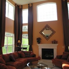 Two story drapery ideas. Drapery solutions for your very tall windows