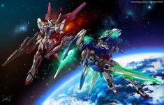 Gundam OO fanart by GoddessMechanic.deviantart.com on @DeviantArt
