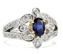 Sapphire like no other!!!!!! It almost looks like a tiara...............................................:D
