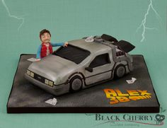 Delorean Back to the Future Cake - Cake by Little Cherry