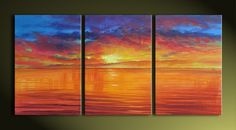 Hand-painted Landscape Oil Painting - Heaven and Earth - USD $ 129.99