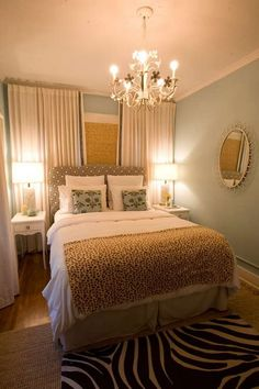 Curtains to the floor.  this room.. but no zebra print, please.