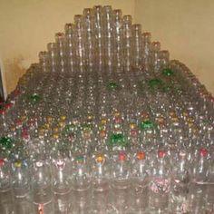 Artesanato com Garrafas PET - Plásticos - Arte Reciclada - Cama