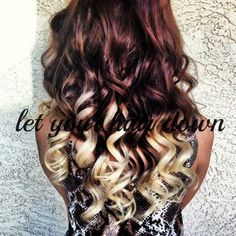 I love the reddish brown into blonde ombré!
