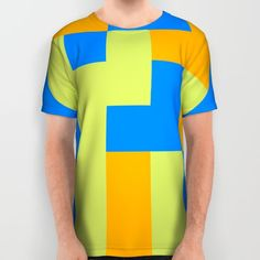 Tetris shapes All Over Print Shirt by Laly_sb #T-shirt #tee #fashion #clothing #clothes #abstract #all over print #unisex
