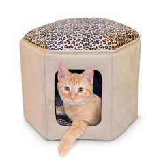 This sturdy K&H Kitty Sleephouse is made with microSuede and soft fleece. This durable Sleephouse has hard plastic walls and zips apart to lay flay.