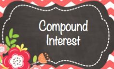 A compound interest worksheet differentiated with questions that are listed as easy, medium and hard