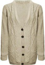 vip Womens Long Knitted Grandad Cardigan