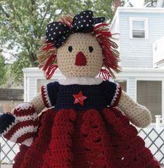 CROCHET PATTERN Doll or Americana Home Decor by CuteCrochetShop