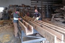 Hand Hewn Hollow Out Beams | Antique Beams & Boards
