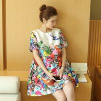 7df1d987845 Maternity Clothes Cartoon Animals Fashion Women Pregnancy Loose Loveliness Cute  Big Size Maternity Dresses