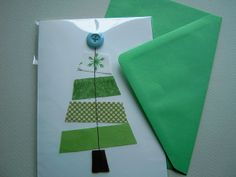 christmas tree/ use scrap fabric or washi tapes