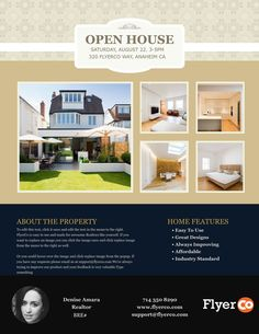 Sample Flyer With Real Estate Agent Information Free Templates