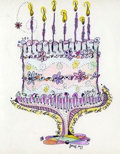 Doodle Birthday Cake