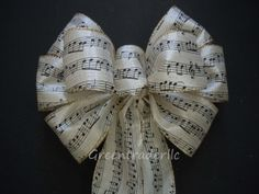 Hey, I found this really awesome Etsy listing at https://www.etsy.com/listing/170820689/ivory-gold-black-music-themed-wedding