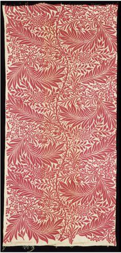 'Larkspur' furnishing fabric designed by William Morris, Great Britain, 1875