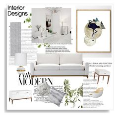 """Scandinavian Interior Design"" by signaturenails-dstanley ❤ liked on Polyvore featuring interior, interiors, interior design, home, home decor, interior decorating, ferm LIVING, Jamie Young, Bloomingville and Lene Bjerre"