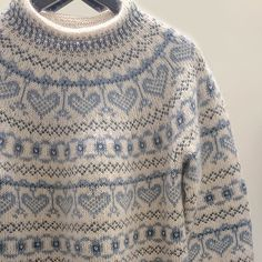 Icelandic Sweaters, Fair Isle Knitting, Sweater Knitting Patterns, Stitch Patterns, Knitwear, Knit Crochet, Men Sweater, Color, Fair Isles