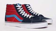 Vans SK8 Hi - Blue / Red